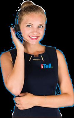 Telefonist med headset iTell